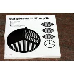 3 delt støbejernsrist rist til alle 57/58cm grills