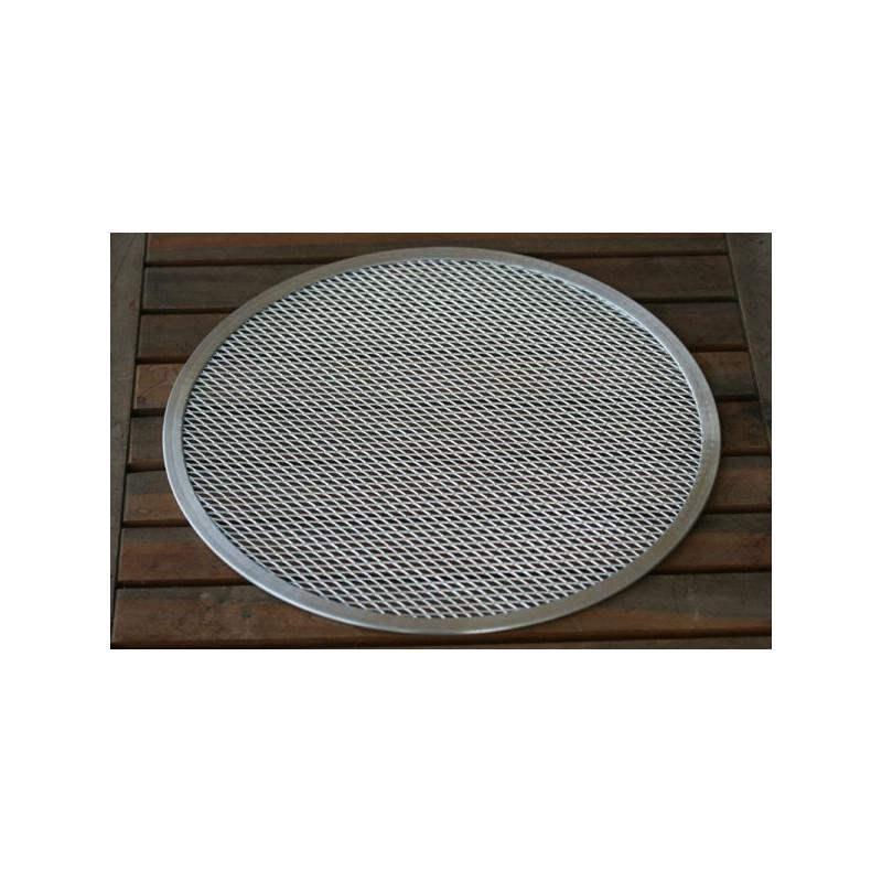 Perforeret alu-pizza bageplade Ø33cm