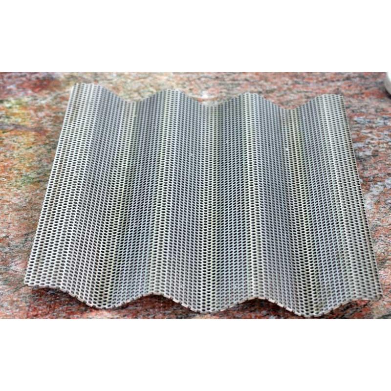 Flutes hul-bageplade i rustfri stål