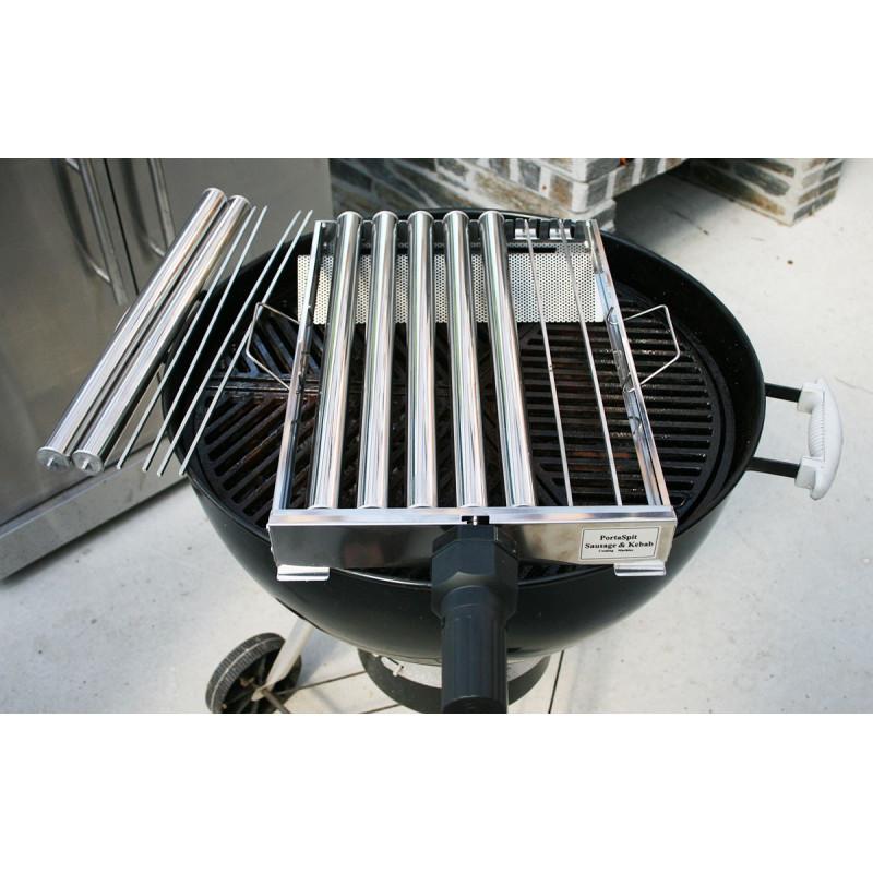 Kebab & pølse rotisseri med adapter til Weber57